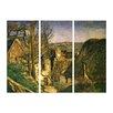 """Castleton Home 3-tlg. Leinwandbilder-Set """"Alte Meister Das Haus des Gehenkten bei Auvers"""" von Paul Cézanne, Kunstdruck"""
