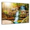 "Castleton Home Leinwandbild ""Wasserfall im Regenwald"", Fotodruck"