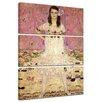 """Castleton Home 3-tlg. Leinwandbilder-Set """"Alte Meister Portrait der Eugenia Primavesi"""" von Gustav Klimt, Kunstdruck"""