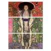 """Castleton Home 3-tlg. Leinwandbilder-Set """"Alte Meister Portrait der Adele Bloch"""" von Gustav Klimt, Kunstdruck"""
