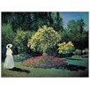 Castleton Home 'Dame Dans Le Jardin' by Monet Art Print