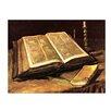 """Castleton Home Leinwandbild """"Alte Meister Stillleben mit Bibel"""" von Vincent van Gogh, Kunstdruck"""