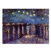 """Castleton Home Leinwandbild """"Alte Meister Sternennacht über der Rhône"""" von Vincent van Gogh, Kunstdruck"""
