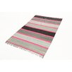 Castleton Home Neon Fleck Grey/Pink/Black Area Rug