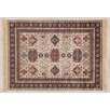Castleton Home Fara Ivory/Black/Red Area Rug