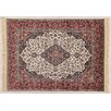 Castleton Home Fara Medallion Ivory/Red/Black Area Rug