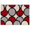 Castleton Home Retro Grey/Red/Cream Area Rug