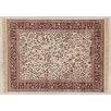 Castleton Home Fara Ivory/Red/Light Brown Area Rug