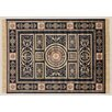 Castleton Home Saonne Black/Red/Yellow Area Rug