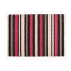 Castleton Home Bandol Cotton Stripe Black / Red Area Rug