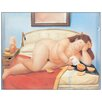 Castleton Home 'La Lettera' by Botero Graphic Art