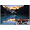 Castleton Home 'Canoe On Lake Louise' Photographic Print