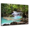 "Castleton Home Leinwandbild ""Wasserfall im Wald"", Fotodruck"