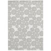 Castleton Home Blooming Flowers Grey Area Rug