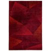 Castleton Home Triangle Plain Red Area Rug
