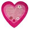 Castleton Home Kids Love Heart Hand-Tufted Pink Area Rug