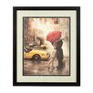 Castleton Home Couple under Umbrella Framed Art Print