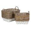 Castleton Home Pramble 2 Piece Storage Basket Set