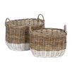 Castleton Home Pramble 2 Piece Oval Storage Basket Set
