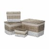Castleton Home Lido 4 Piece Rectangular Storage Trunk Set