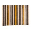 Castleton Home Bandol Cotton Stripe Black / Gold Area Rug