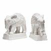 Castleton Home Dolomite Elephant Bookends (Set of 2)