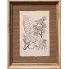 Castleton Home Printed Leaf Drawing IV Framed Graphic Art