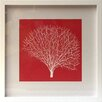 Castleton Home Pop Coral III Framed Graphic Art