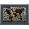 Castleton Home World Map Framed Painting Print