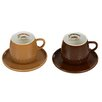 Castleton Home 4 Piece Coffee Cup with Saucer Set
