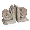 Castleton Home Polyresin Column Head Bookends (Set of 2)