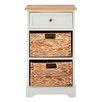 Castleton Home Vermont Cabinet with 1 Wood and 2 Basket Drawers
