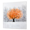 Castleton Home Painting Print on Wrapped Canvas in Orange