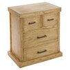 Castleton Home Issa 4 Drawer Bedside Table