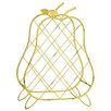 Castleton Home Metal Pear Wine Basket