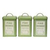 Castleton Home Whitney 3-Piece Tea, Coffee and Sugar Canister Set