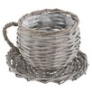 Castleton Home Willow Cup and Saucer Planter