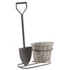 Castleton Home Rustic Shovel and Basket