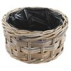 Castleton Home Rattan Round Basket Planter