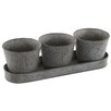 Castleton Home Chartwell 4 Piece Chandler Pot Planter Set
