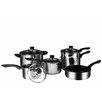 Castleton Home 6 Piece Non-Stick Stainless Steel Cookware Set