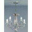Castleton Home Leon Five Light Candle Chandelier in White Brushed Gold