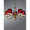Castleton Home Hayley Five Light Chandelier in Bronzed Brass