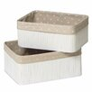 Castleton Home Kayo 2 Piece Storage Basket Set