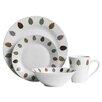 Castleton Home Porcelain Elm 16 Piece Dinnerware Set