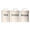 Castleton Home 3-Piece Sketch Tea, Coffee and Sugar Canister Set