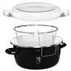 Castleton Home Enamel on Steel Deep Fat Fryer with Glass Pyrex Lid
