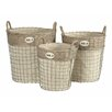 Castleton Home Lido 3 Piece Round Laundry Basket Set