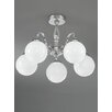Castleton Home Bathroom 5 Light Semi-Flush Ceiling Light