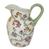 Castleton Home Thousand Flowers Decorative Earthenware Jug